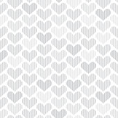 Seamless pattern with hearts. Gray heart shapes on white background. One color - gray.