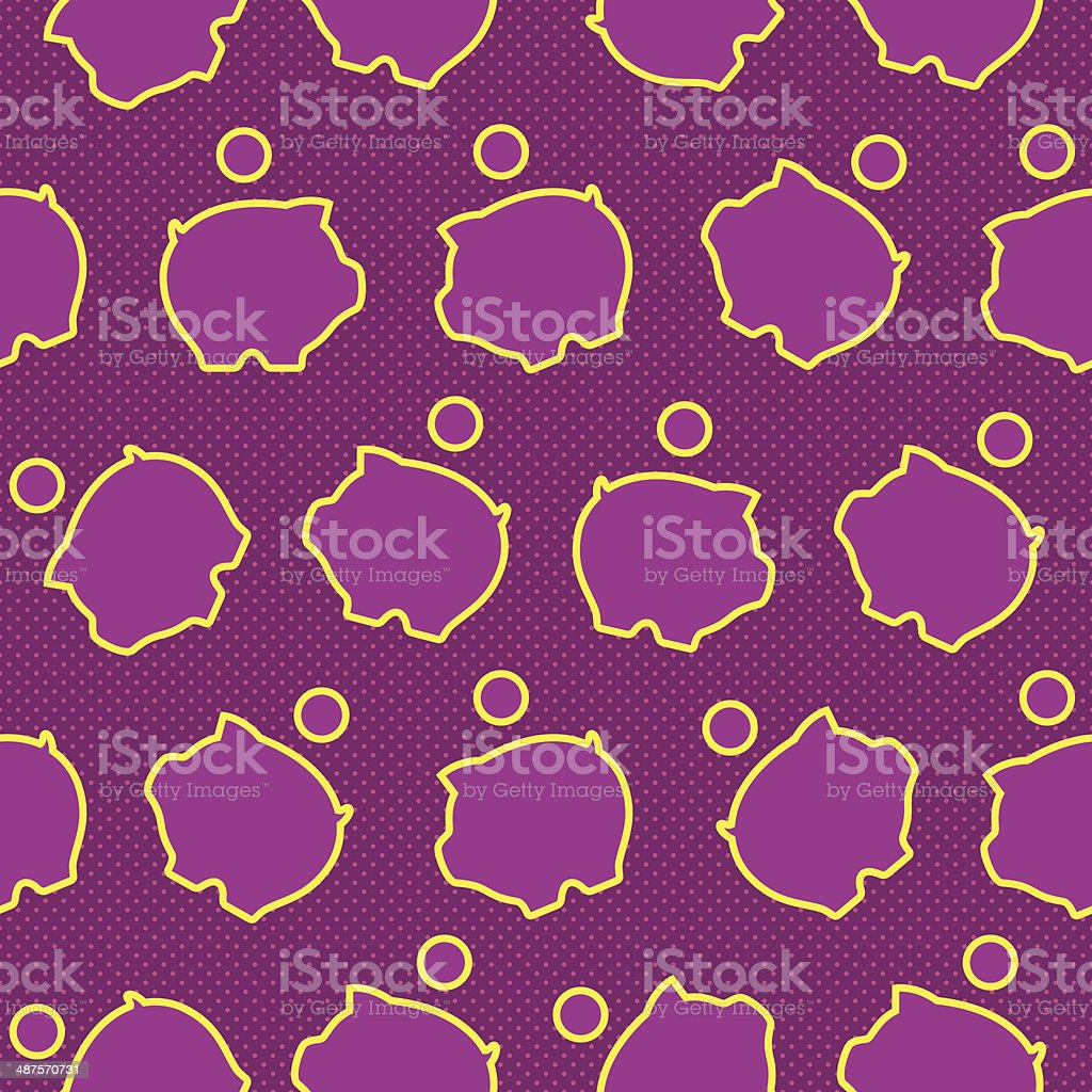 Seamless pattern with icons of money-boxes royalty-free stock vector art