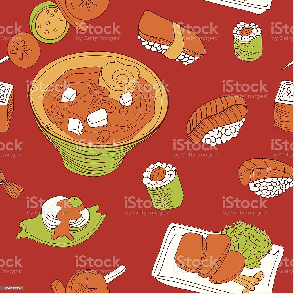 seamless pattern with japan food royalty-free seamless pattern with japan food stock vector art & more images of animal markings