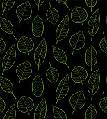 Seamless pattern with leaves in vector