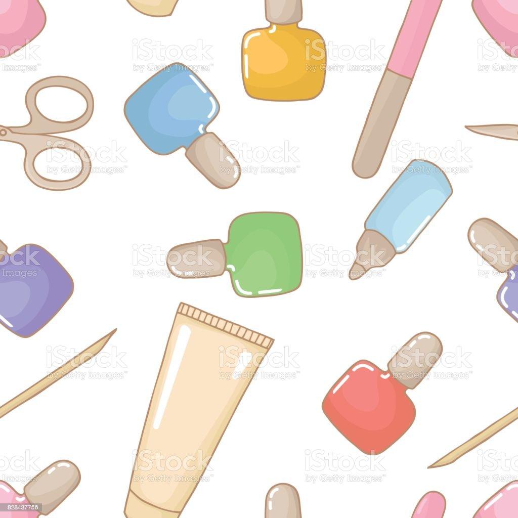 Seamless Pattern With Lipsticks Wallpaper Nail Design Stock Vector Art 828437756 | IStock