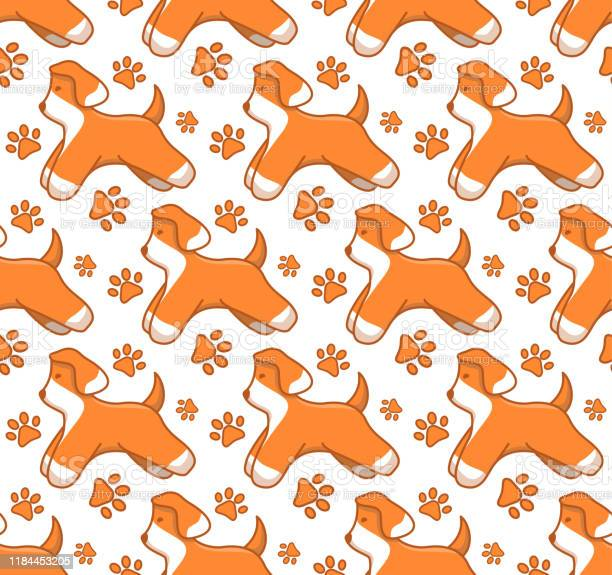 Seamless pattern with little dog home pet cute puppyconception of vector id1184453205?b=1&k=6&m=1184453205&s=612x612&h=1vfkwlp kaip4vet7ev9sklunf22n3 wvp1jw7eic 4=