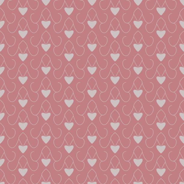 Motif sans couture avec de petits cœurs. - Illustration vectorielle