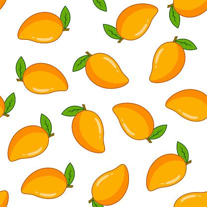 Seamless pattern with mango