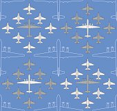 seamless pattern with military airplanes 04