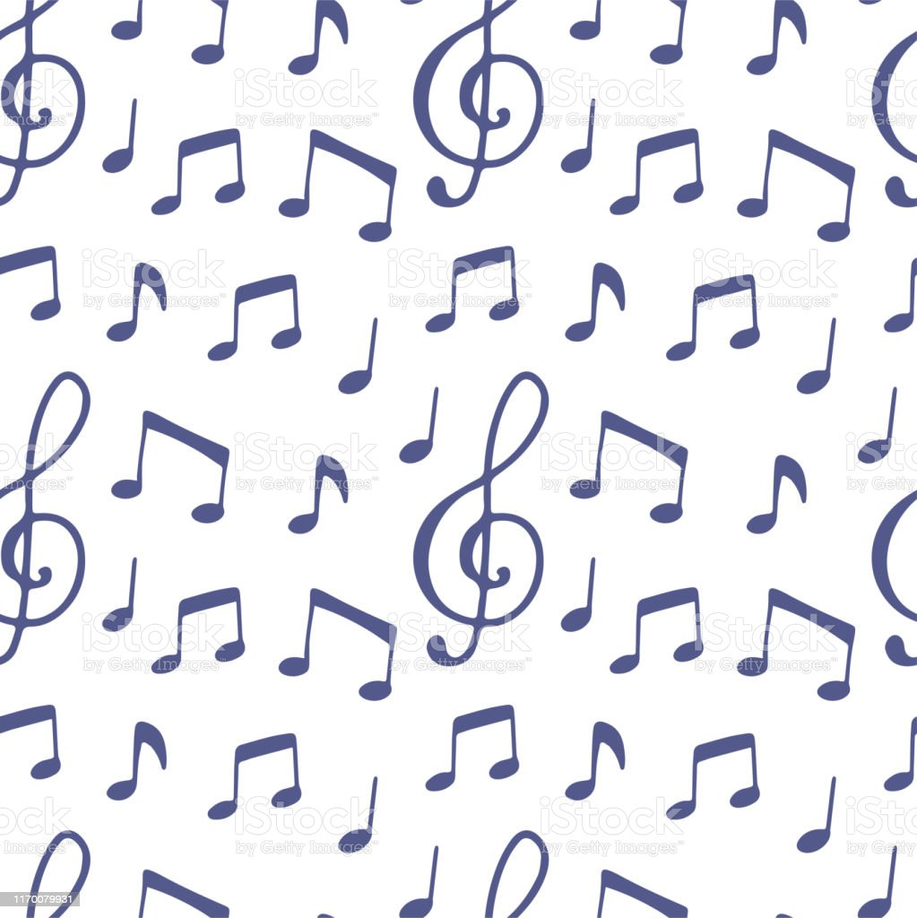 Modern cartoon illustration with music note on white background....