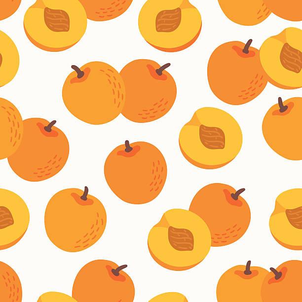 nahtlose muster mit nektarinen - nektarinenmarmelade stock-grafiken, -clipart, -cartoons und -symbole