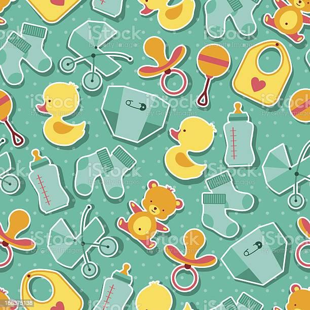 Seamless pattern with newborn baby stickers vector id186375138?b=1&k=6&m=186375138&s=612x612&h=d9l42kjuibairp kzg2p0cfhk2zizqvtajgg78sfyu0=