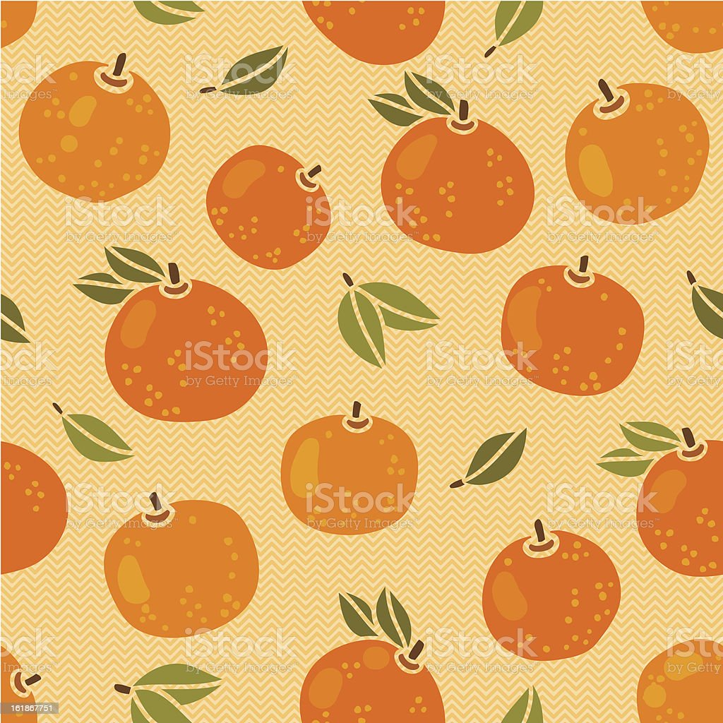 Seamless pattern with oranges royalty-free stock vector art