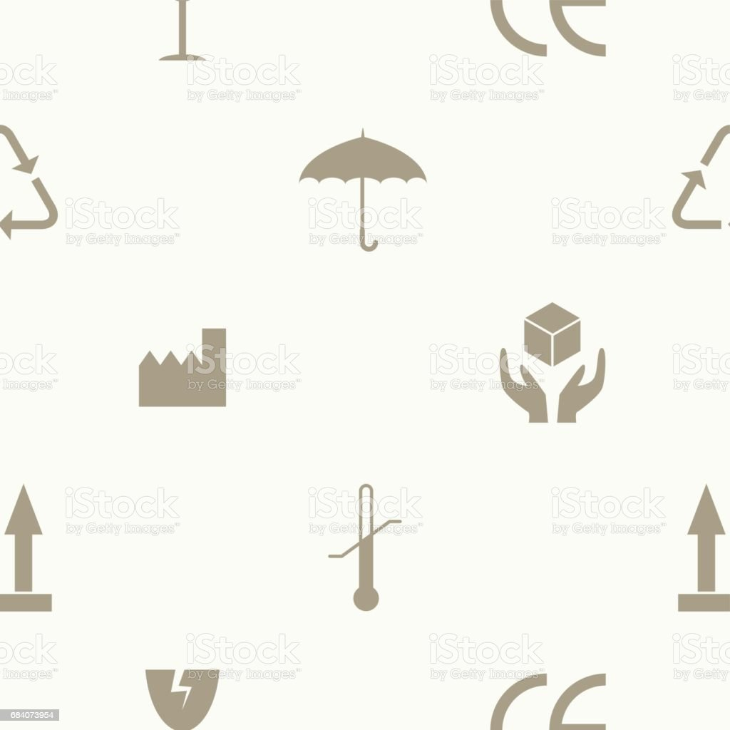 Seamless pattern with packaging symbols for your design