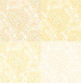 background with Heart and Paisley