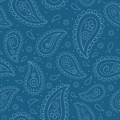 Seamless pattern with paisley design