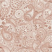 seamless pattern with paisley , eps10