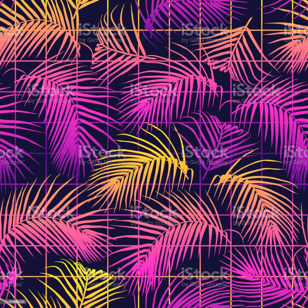 Seamless Pattern With Palm Leaves Tropical Design Futuristic Digital Vector Wallpaper Vaporwave Retrowave Cyberpunk Aesthetics Stock Illustration Download Image Now Istock Published by april 1, 2020. seamless pattern with palm leaves tropical design futuristic digital vector wallpaper vaporwave retrowave cyberpunk aesthetics stock illustration download image now istock