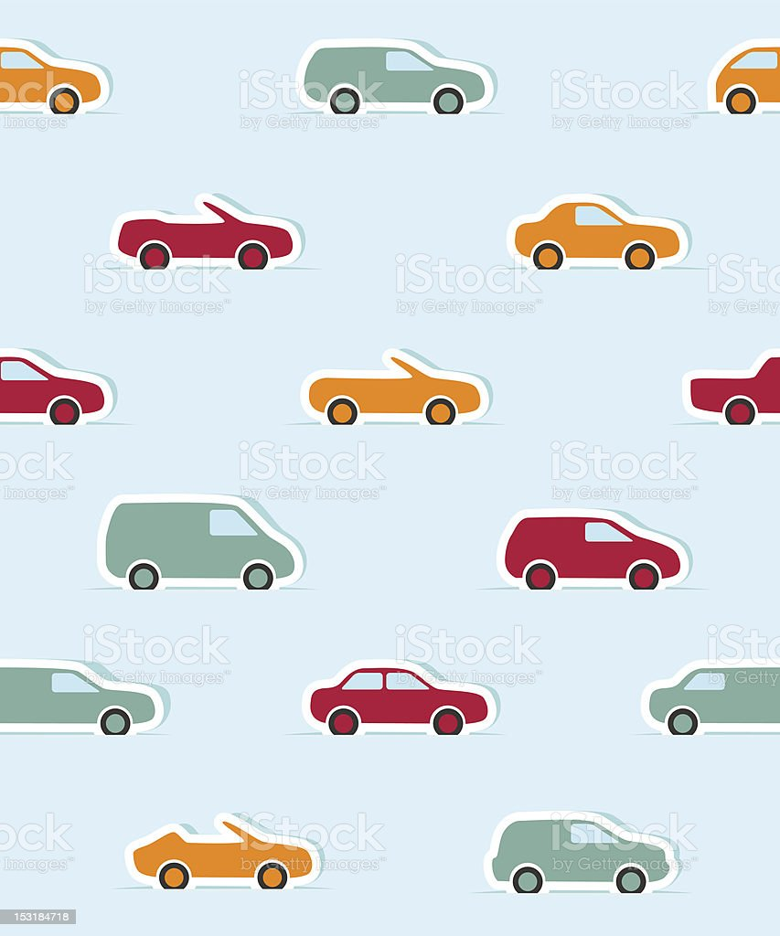 Seamless pattern with paper cars royalty-free seamless pattern with paper cars stock vector art & more images of abstract