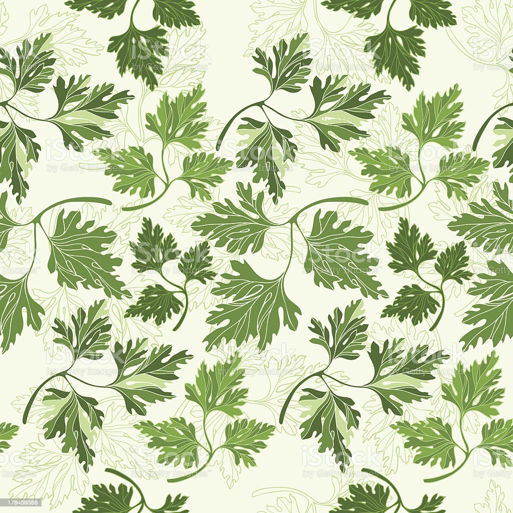 Seamless pattern with  parsley royalty-free stock vector art