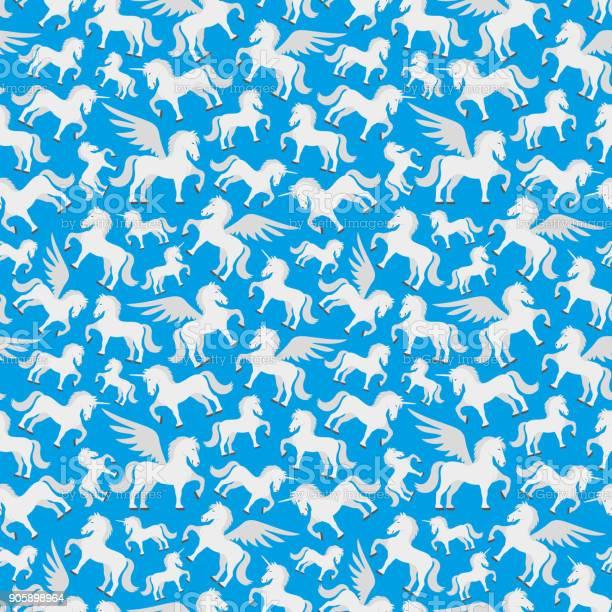 Seamless pattern with pegasus and unicorns vector id905898964?b=1&k=6&m=905898964&s=612x612&h=5tvqfyk4jgrmkk7zqkfqt2l9lqom0zx01arvomvikk8=