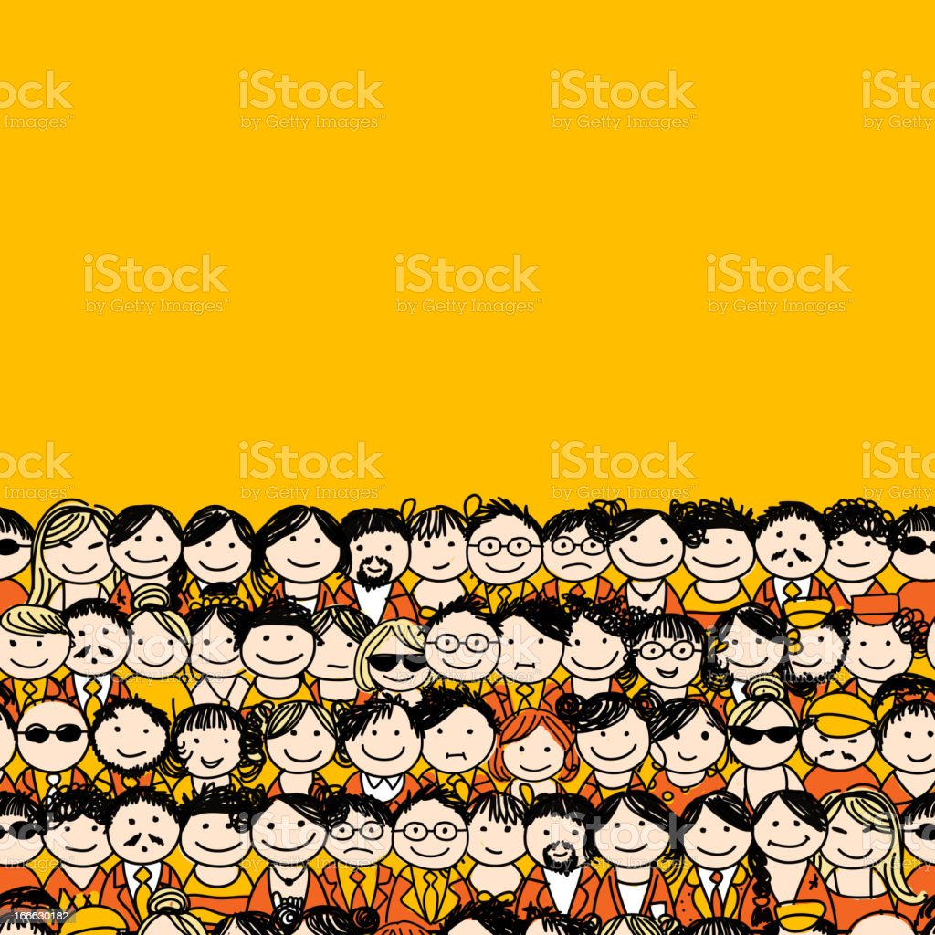 Seamless pattern with people icons for your design royalty-free stock vector art
