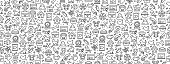 istock Seamless Pattern with Pets Icons 1204632192