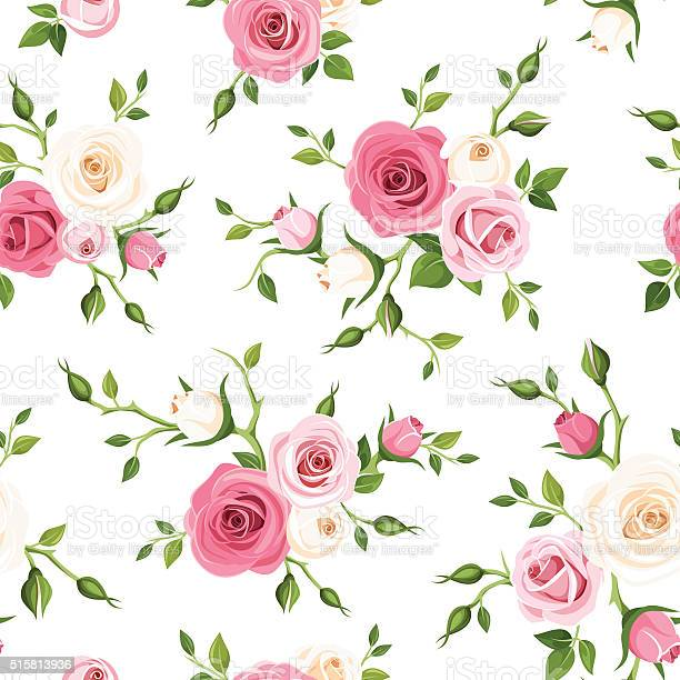 Seamless pattern with pink and white roses vector illustration vector id515813936?b=1&k=6&m=515813936&s=612x612&h=t4audnefevy7fydxjp0atobjpmzdxyy uq9nfshfrak=
