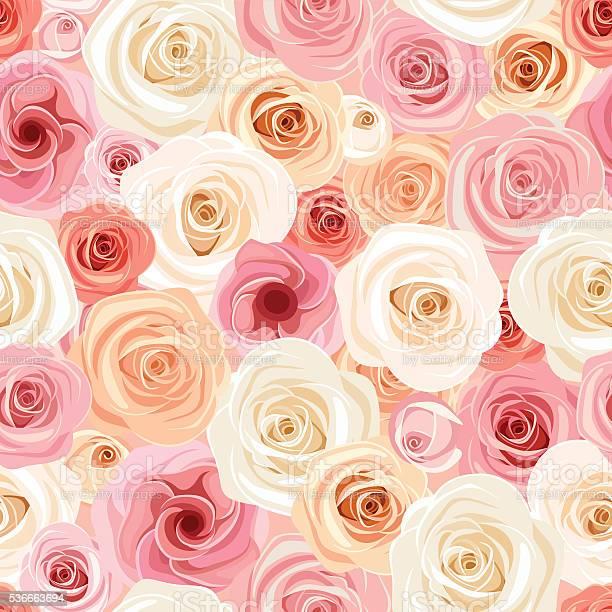 Seamless pattern with pink orange and white roses vector illustration vector id536663694?b=1&k=6&m=536663694&s=612x612&h=j2q3q8ujq4edmqby xndya96zdc0wrtz9re8iquhobu=