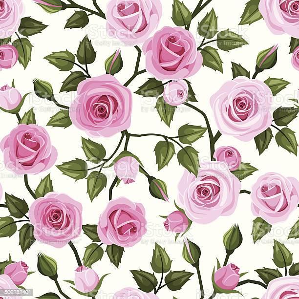 Seamless pattern with pink roses vector illustration vector id506282401?b=1&k=6&m=506282401&s=612x612&h=me5h4k ttmuxsgn6hqwas1lqv6uzi gkqq3bjzttwga=