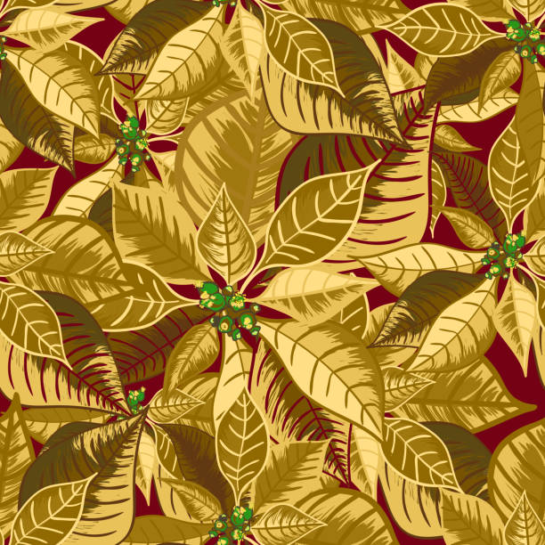 Royalty Free Background Of Purple Poinsettia Clip Art Vector Images