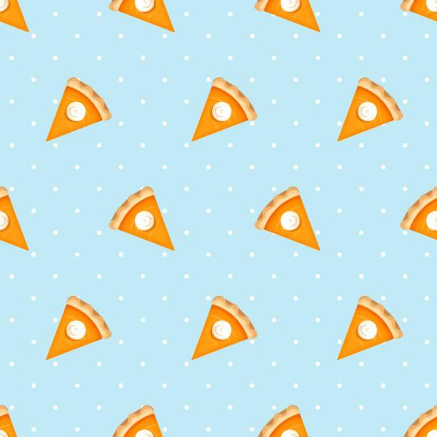 南瓜餅片的無縫模式。向量圖。 - pumpkin pie 幅插畫檔、美工圖案、卡通及圖標