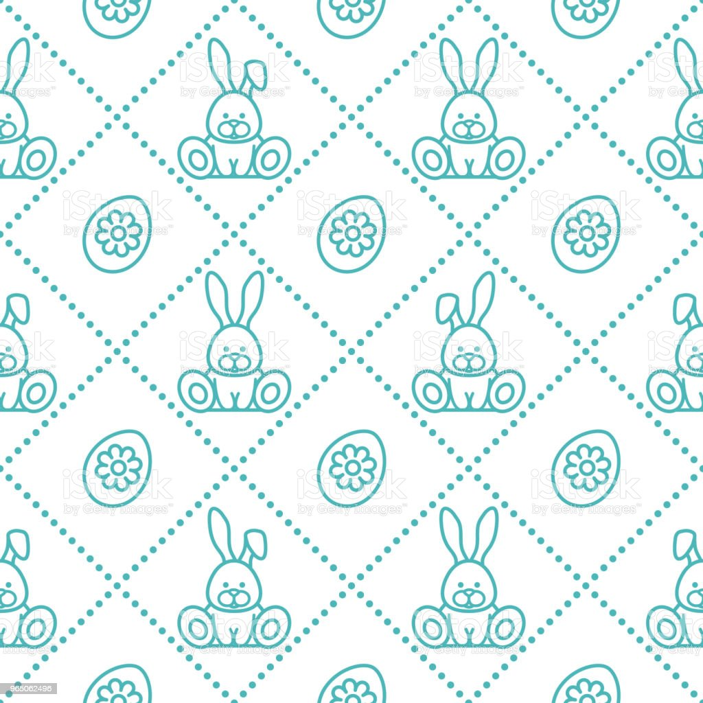 Seamless pattern with rabbits and eggs with flower seamless pattern with rabbits and eggs with flower - stockowe grafiki wektorowe i więcej obrazów chrześcijaństwo royalty-free