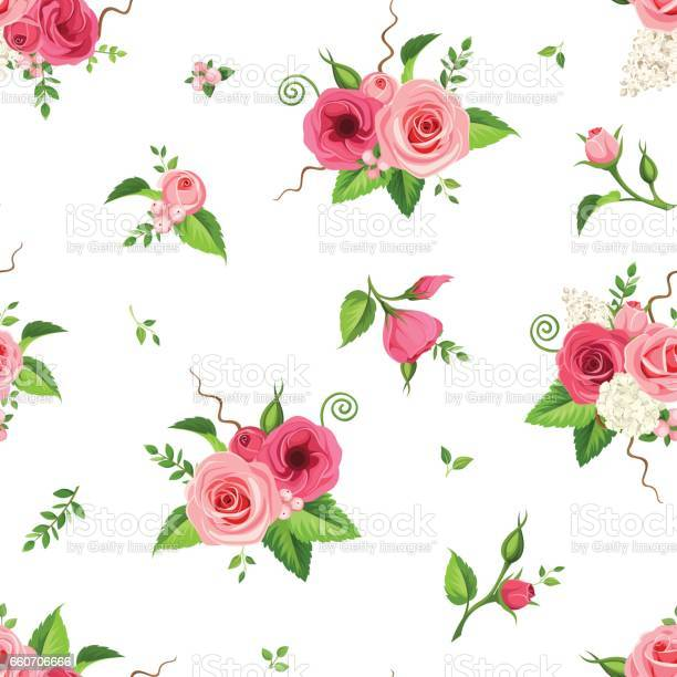 Seamless pattern with red and pink flowers vector illustration vector id660706666?b=1&k=6&m=660706666&s=612x612&h=hbdtd0fcwg i8heslmlfxgfsu2a8l1fod t7qjvkdl8=
