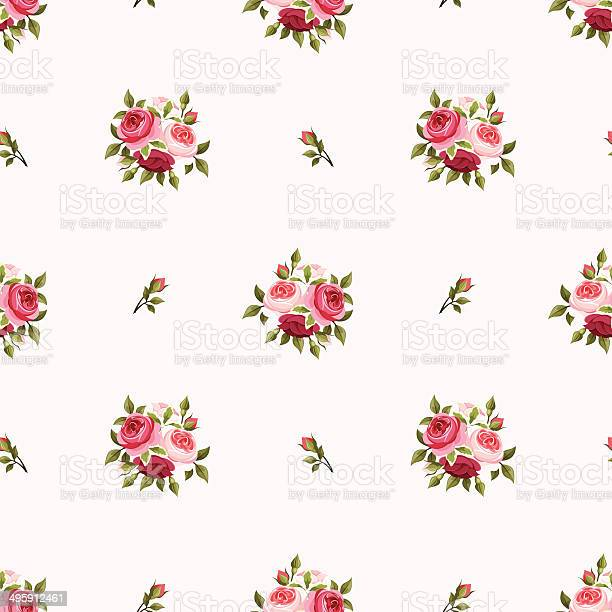 Seamless pattern with red and pink roses vector illustration vector id495912461?b=1&k=6&m=495912461&s=612x612&h=jhx9tytlxicdp8 xe2d3nw4xvsqzzxxhwsjyc3o2w k=