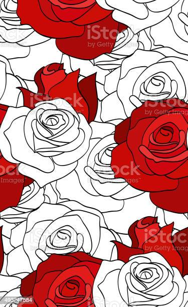Seamless pattern with red and white roses vector id493247584?b=1&k=6&m=493247584&s=612x612&h=bbkigxw67qqzmfsh eq5yqc8b2xqq0ayt 77evajgj4=