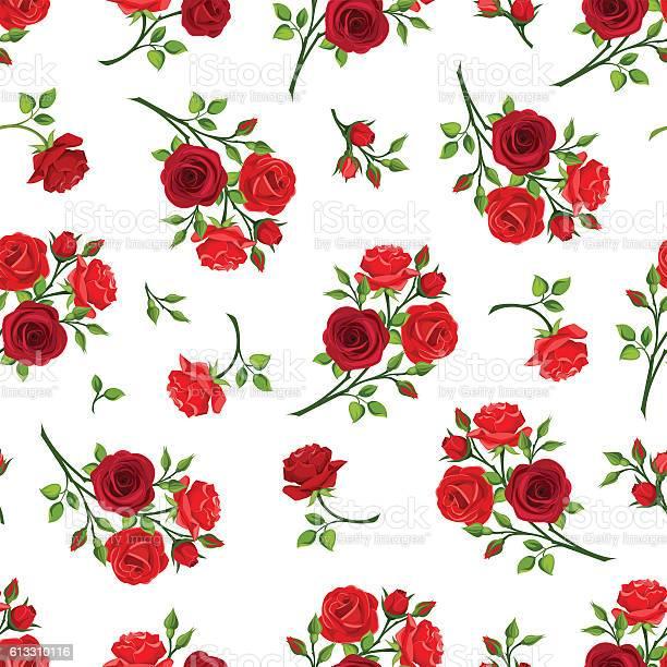 Seamless pattern with red roses branches vector illustration vector id613310116?b=1&k=6&m=613310116&s=612x612&h=eadinrtc3s3vdjjwzokzuarvvrzb1bk afo6av6stgq=