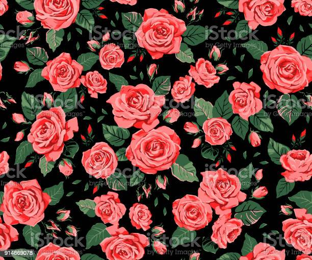 Seamless pattern with red roses on a black background vector id914669078?b=1&k=6&m=914669078&s=612x612&h=mntshrprptrwoczx1kgbi1faqmltj5tc snzhkvxzes=