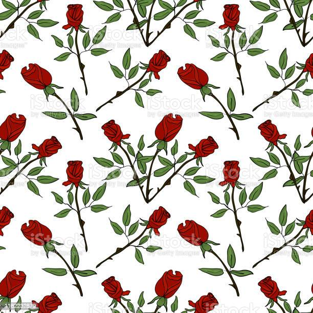 Seamless pattern with red roses on a white background vector pattern vector id1182232879?b=1&k=6&m=1182232879&s=612x612&h=2wwe8jalkv4d5ztla5naapcvetkegaepin1l8m2rbyc=