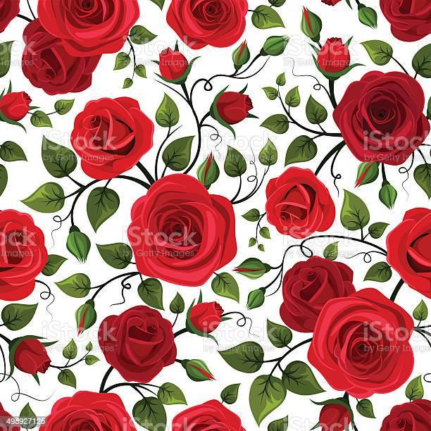 Seamless pattern with red roses vector illustration vector id498927125?b=1&k=6&m=498927125&s=612x612&h=gg3bbtzsvp9tthardrut3p bwjkbfqdptgzh1fw mpg=