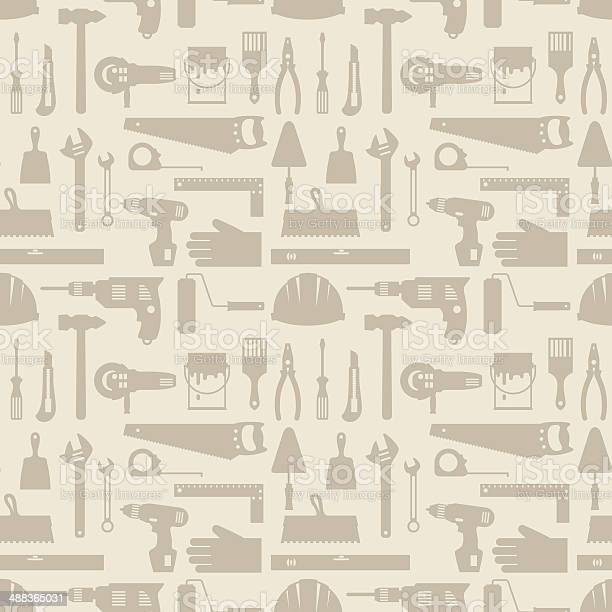 Seamless pattern with repair working tools icons vector id488365031?b=1&k=6&m=488365031&s=612x612&h=m7jslhp0tdp7kbiip72 cbafrr2wydzdbkjlgkw 3d8=