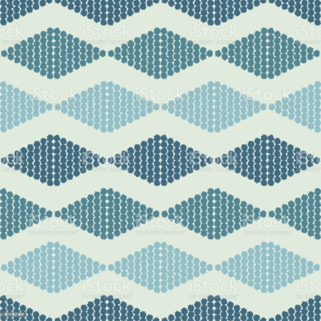 seamless pattern with rhombuses tribal vector art illustration