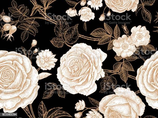 Seamless pattern with rose flowers vector id922063294?b=1&k=6&m=922063294&s=612x612&h=w2nzc4m1i0  nknqbptz3wgy ajuanavl3avq9yivym=