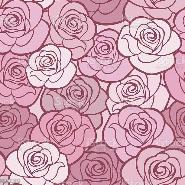 Seamless pattern with roses vector illustration vector id187946275?b=1&k=6&m=187946275&s=612x612&h=cglbapuiwqjauhlnm8vowelbg 0hjev5ldhlaozr3ck=