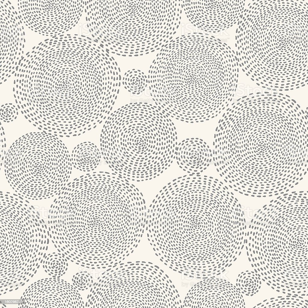 seamless pattern with round shapes royalty-free stock vector art