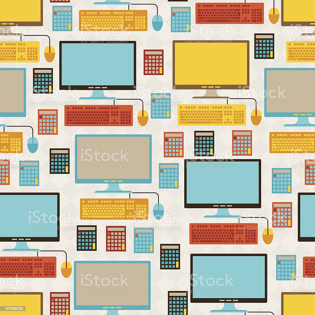 Seamless pattern with school icons. royalty-free stock vector art