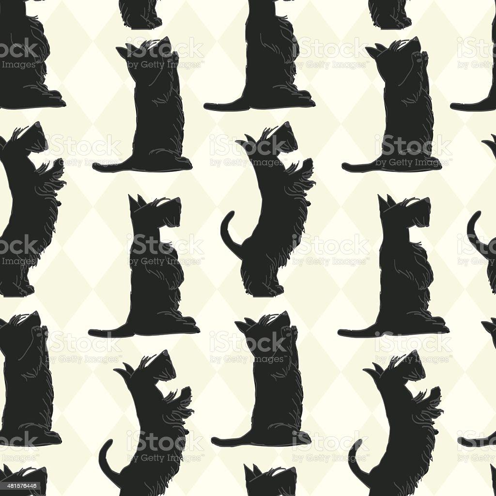 seamless pattern with Scottish vector art illustration