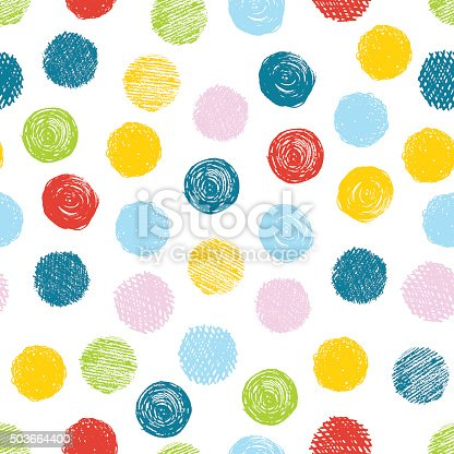 istock Seamless pattern with scribble dots. Vector abstract background. 503664400