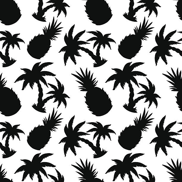 Best Black And White Pineapple Illustrations, Royalty-Free ...