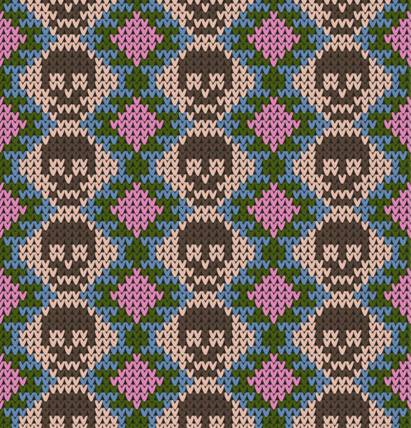 Seamless Pattern With Skull And Ethnic Mexican Elements Day Of The Dead A Traditional