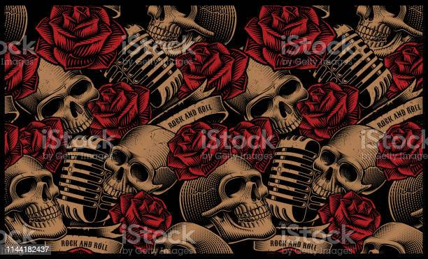 Seamless pattern with skulls microphones and roses vector id1144182437?b=1&k=6&m=1144182437&s=612x612&h=tftys3wtpiupz9rva6e50f0ycy9frdvs0r188yl8ypg=