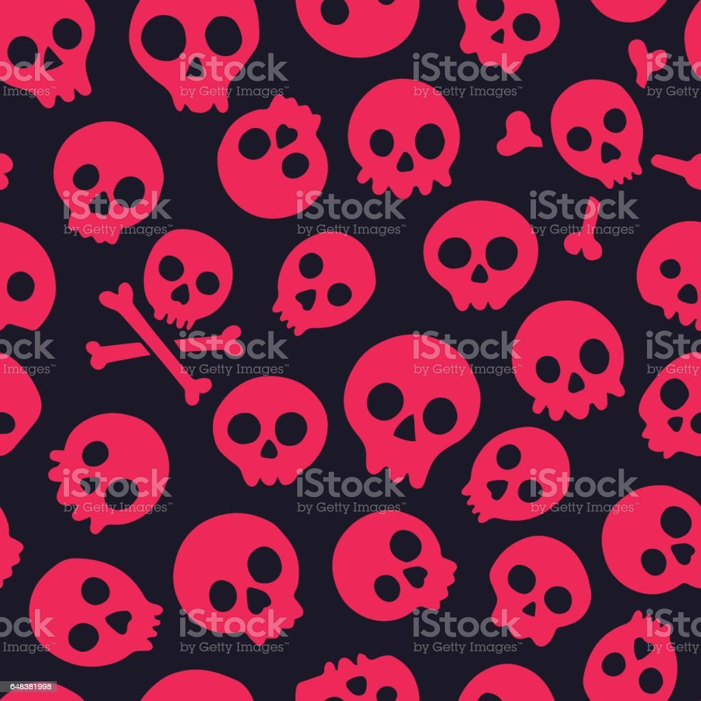 Seamless pattern with skulls. Vector illustration vector art illustration