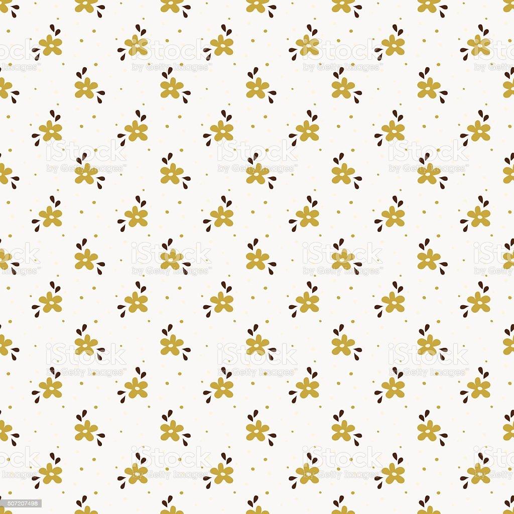 Patrón Sin Costuras Con Pequeñas Dibujados A Mano Las Flores - Arte ...