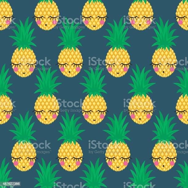 Seamless pattern with smiling sleeping pineapples on dark background vector id487622386?b=1&k=6&m=487622386&s=612x612&h=7mxspg56vyeluchc7up93yf9 5upgola4fp52tqmwg0=